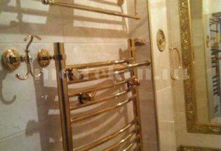 Установка золотого полотенцесушителя в Одинцово