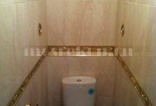 Ремонт туалета в золотом стиле в Одинцово