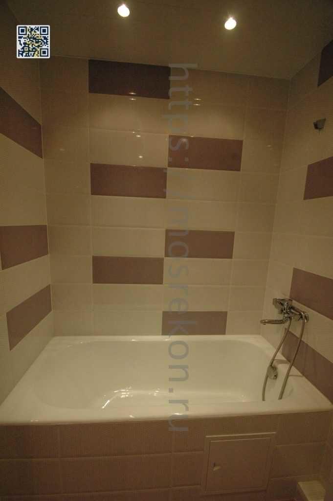 Отделка стен керамической плиткой в ванной