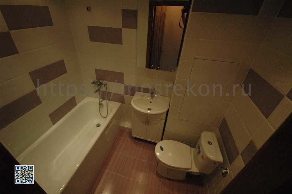 Современный ремонт в совмещенной ванной