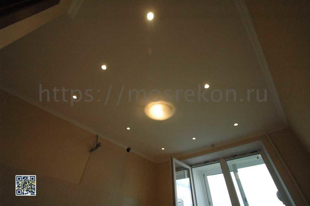 Потолок под окраску на кухне