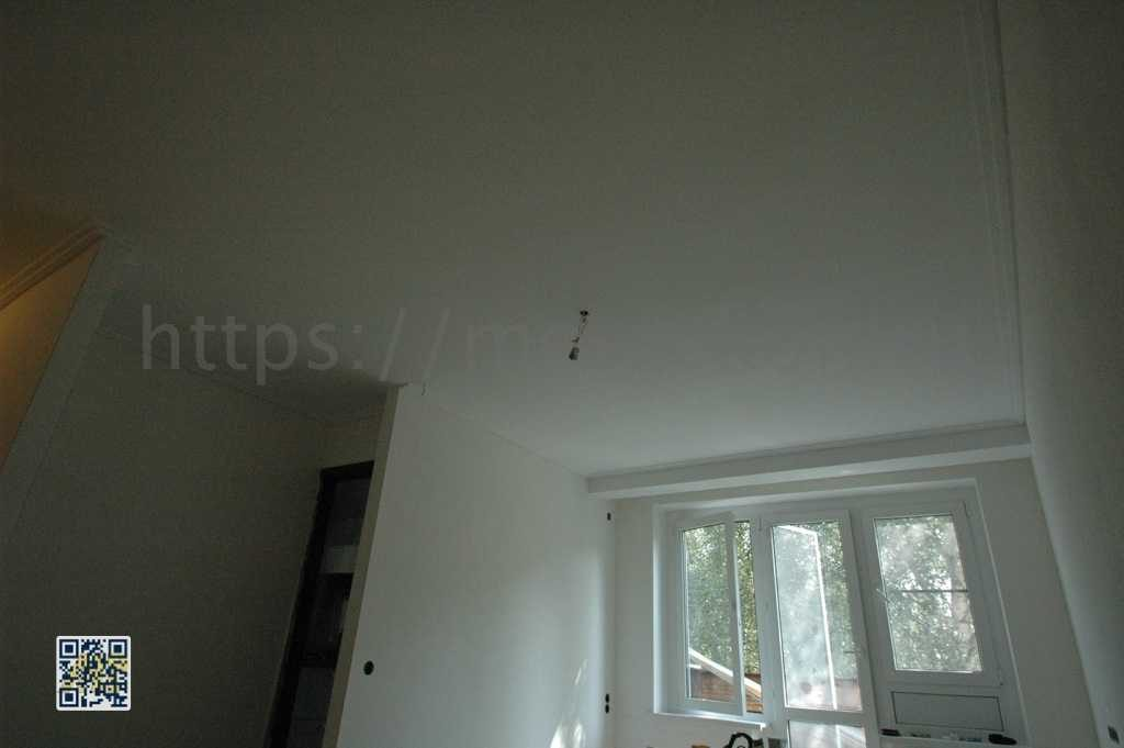 Ремонт потолка под окраску в зале и в коридоре в хрущевке