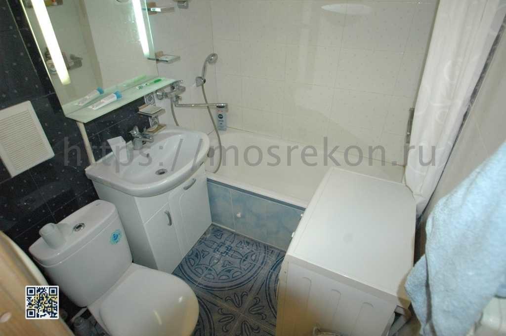 Ремонт совмещенной ванной на щукинской фото