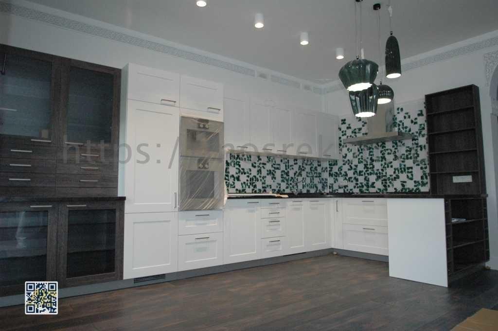 Элитный ремонт и отделка кухни в 3-х этажном коттедже