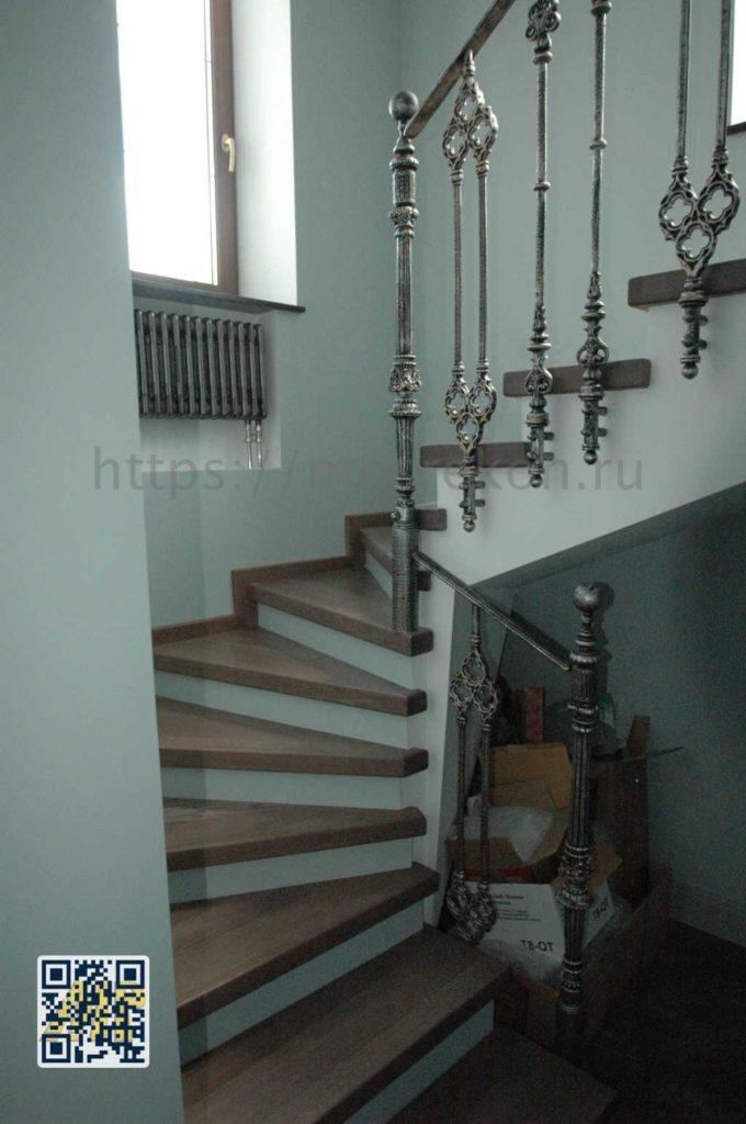 Дизайнерская кованная лестница в Суханово