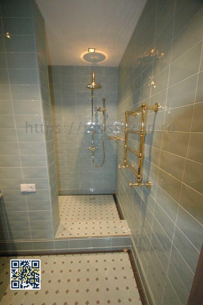Дизайнерский ремонт ванной комнаты в таунхаусе