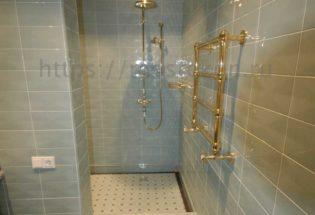 Элитный ремонт душевой и туалета в коттедже