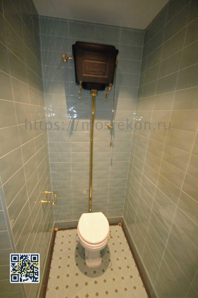Элитный ремонт туалета в коттедже