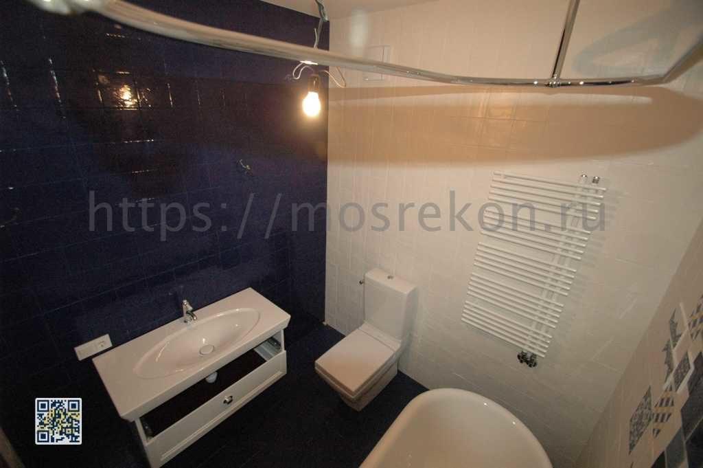 Ремонт небольшой ванной комнаты в Суханово парк