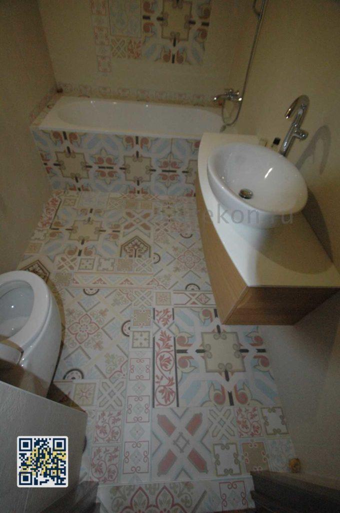Ремонт большой ванной в частном доме