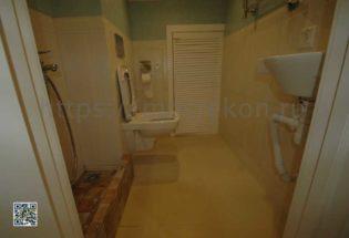 Укладка плитки в туалете по дизайн проекту в Суханово Парк