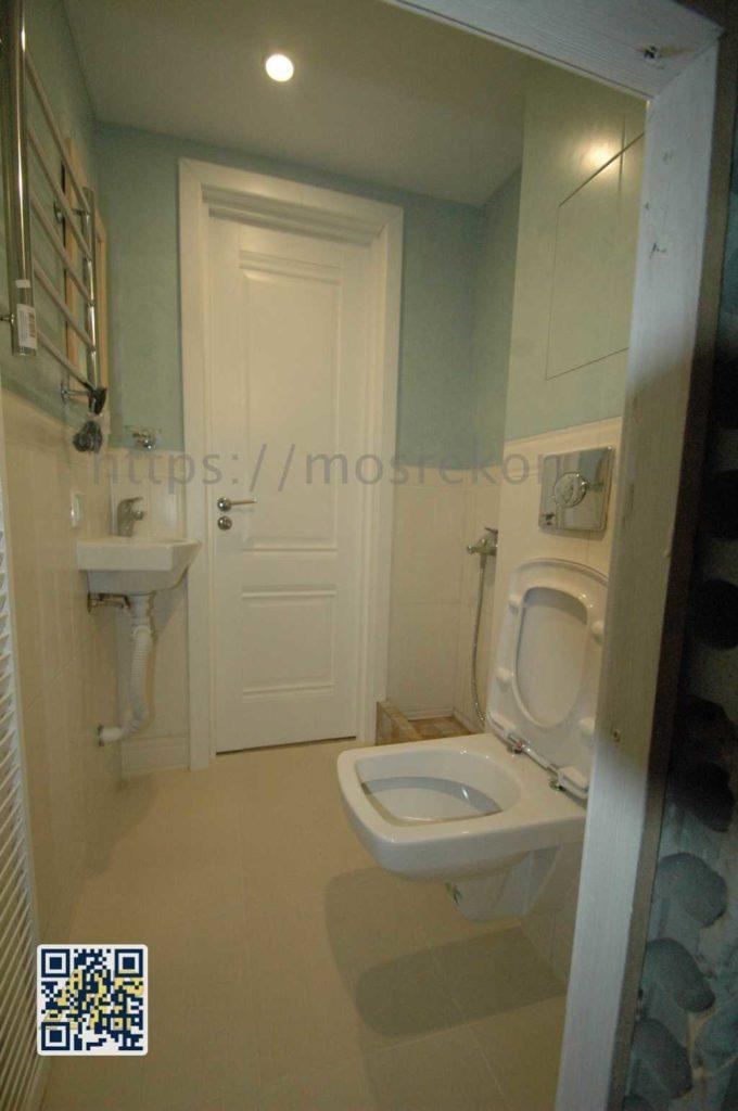 Ремонт туалета по дизайн проекту