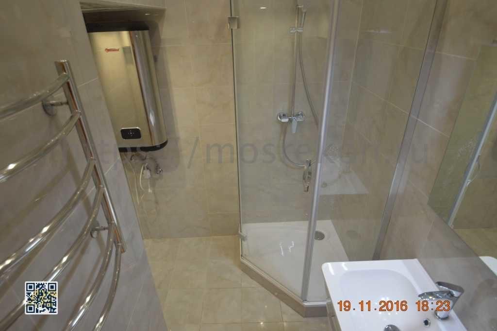 Установка душевой кабины в ванной на Остоженке
