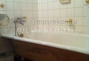 Укладка палубного тика в ванной