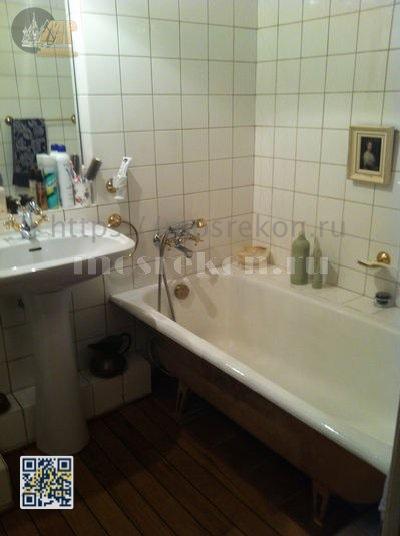 Установка ванны в ванной комнате