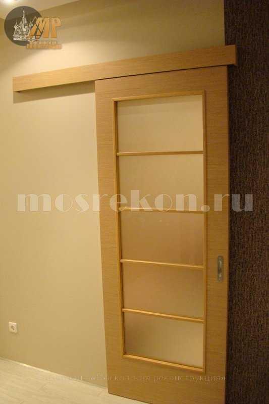 Установка раздвижных дверей фото