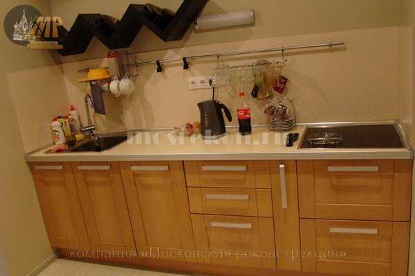 Ремонт кухни в квартире студии фото