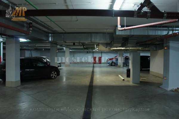 Замена лотком в подземном паркинге фото