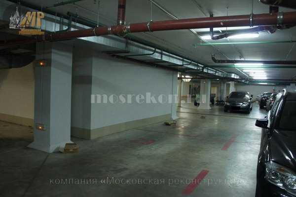 Устранение протечек в подземной парковке
