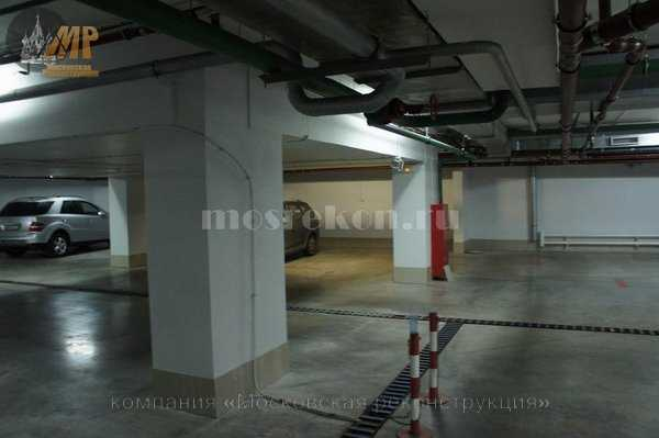 Косметический ремонт стен на парковке подземной фото