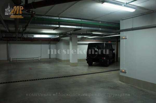 Косметический ремонт подземного паркинга на Покровке 40