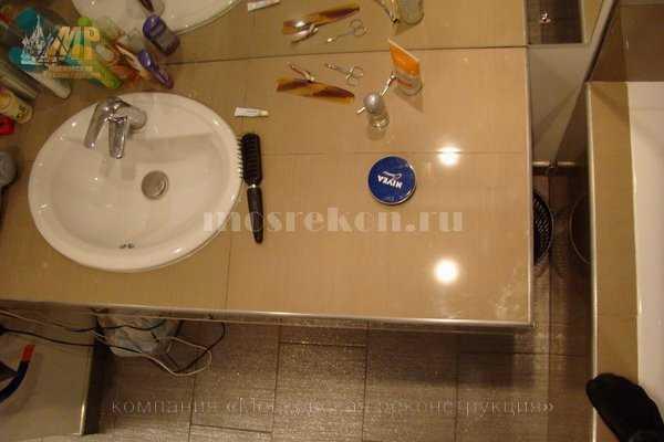 Установка встроенной раковины в ванной