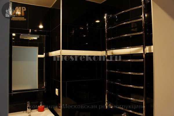Установка полотенцесушителя водяного в ванной комнате