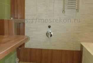 Фото после монтажа полотенцесушителя в районе Отрадное