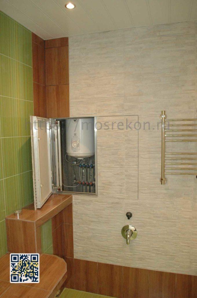 Монтаж люка неведимки в ванной комнате на Отрадном
