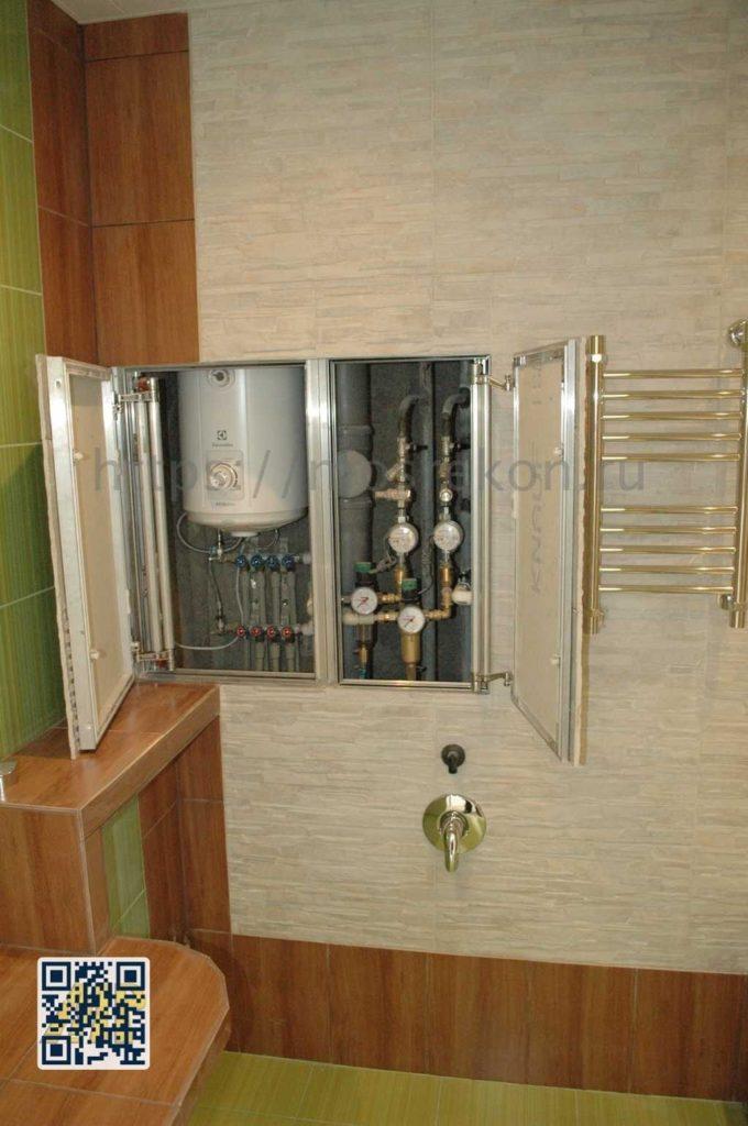 Разводка труб в ванной комнате в Отрадном