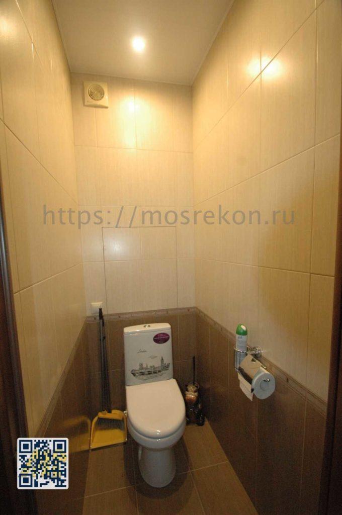 Ремонт туалета в панельном доме фото