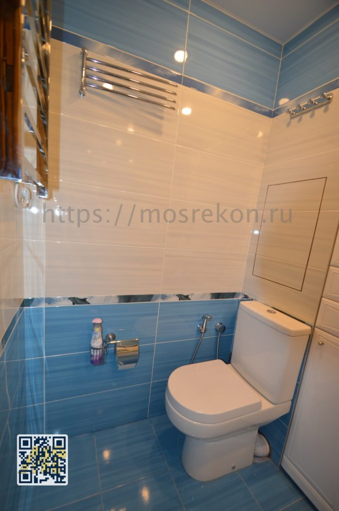 Установка унитаза в туалете в Отрадном