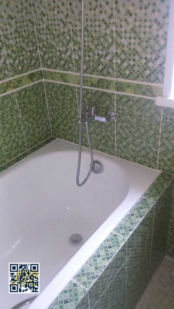 Установка чугунной ванной в танунхаусе