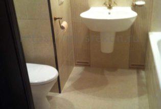 Перепланировка ванной комнаты по дизайн проекту в Отрадном