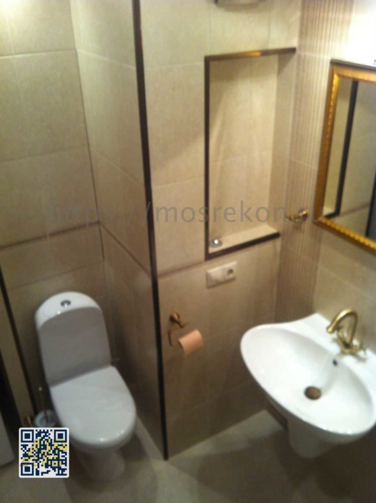 Просторный ремонт в ваноой комнате
