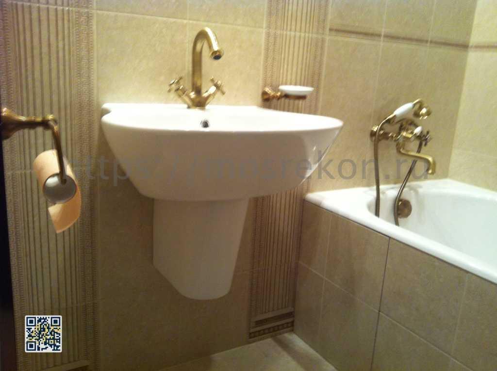 Монтаж смесителя в ванной комнате