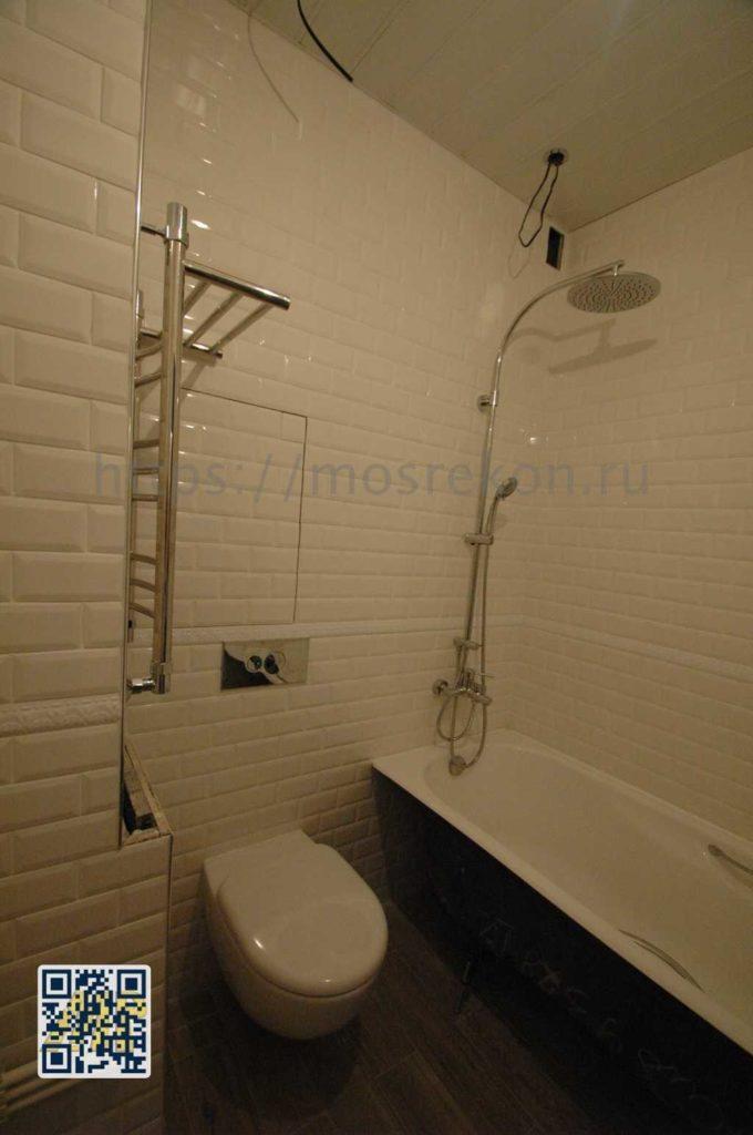 Простой ремонт в ванной ЖК Испанские Кварталы