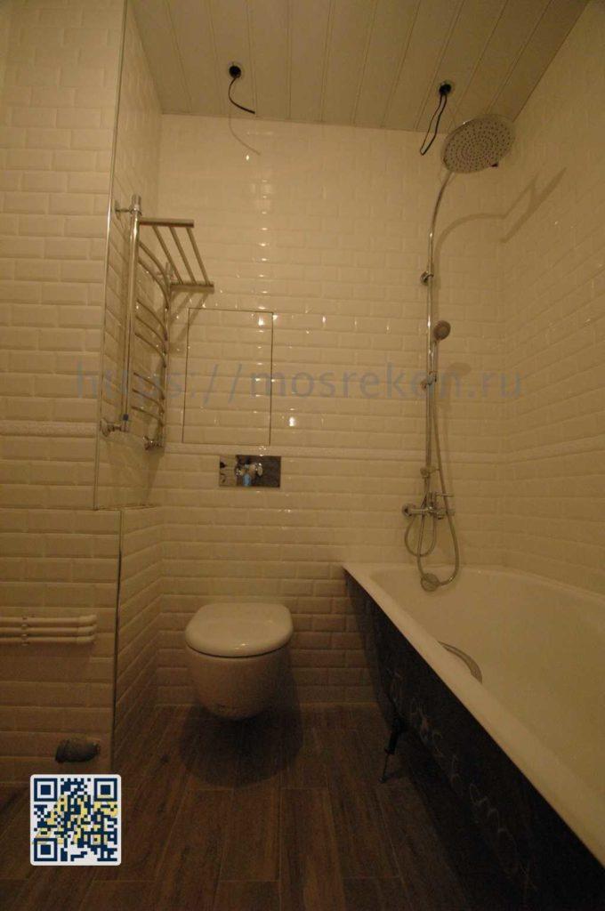 Красивая ванная в поселке Сосенская в Подмосковье