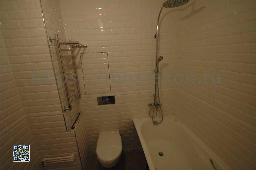 Установка тропического душа в ванной