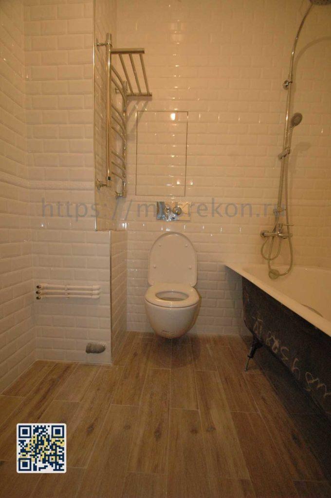 Ремонт в ванной комнате под ключ фото
