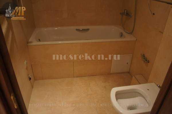 Капитальный ремонт совмещенной ванной в хрущевке