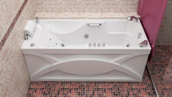 пример установки ванны