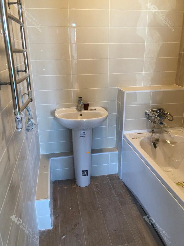 Ванная комната от застройщика в ЖК Спутник