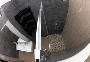 Душевая кабина с трапом и мозайкой