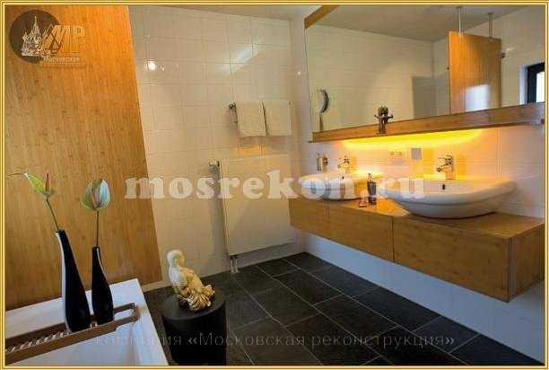 Дизайн, отделка и ремонт ванных комнат, туалетов, санузлов под ключ в Москве и Подмосковье фото